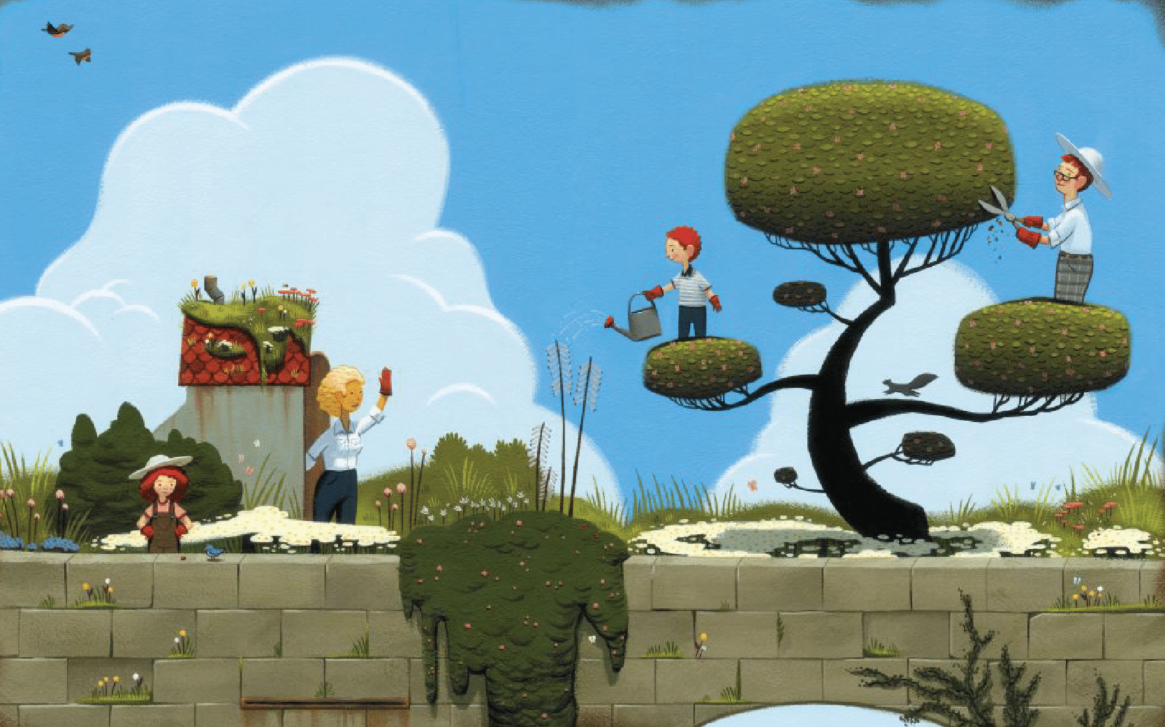 Illustration from the book The Curious Garden