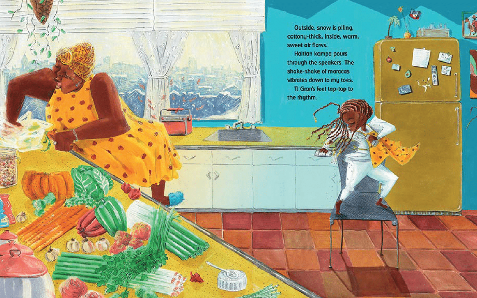Illustration from the book Freedom Soup
