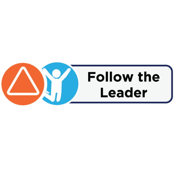 Icons and label for Follow the Leader activity