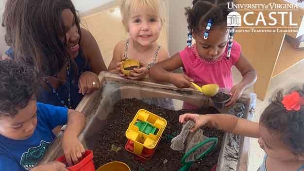 Children sharing at center time