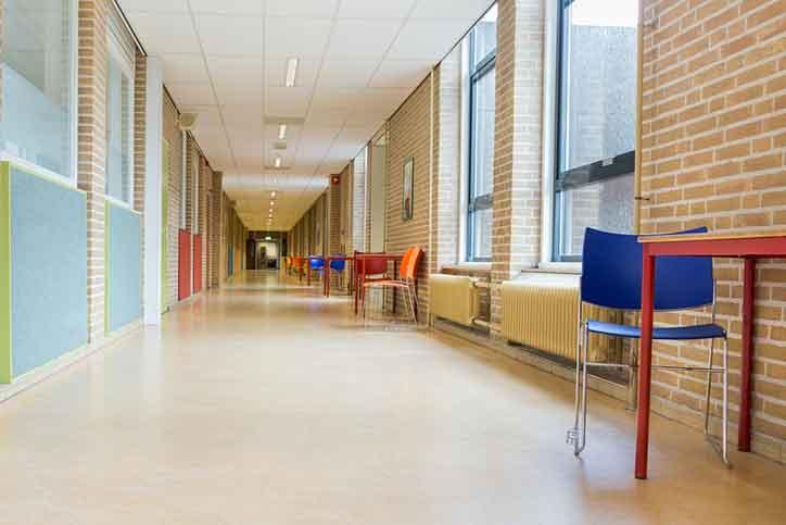 corridor of school hallway
